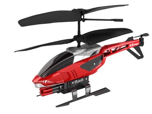 84514 Silverlit Heli Sniper ferngesteuert 3-Kanal Helikopter Infrarot mit Gyro und 6 Raketen zum abschießen, farblich sortiert - 1
