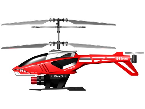 84514 Silverlit Heli Sniper ferngesteuert 3-Kanal Helikopter Infrarot mit Gyro und 6 Raketen zum abschießen, farblich sortiert - 2