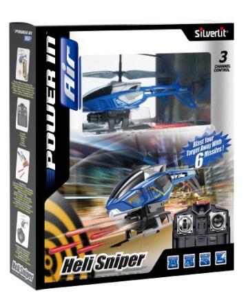 84514 Silverlit Heli Sniper ferngesteuert 3-Kanal Helikopter Infrarot mit Gyro und 6 Raketen zum abschießen, farblich sortiert - 9