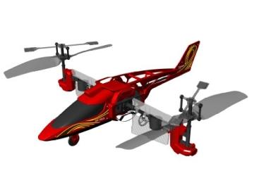84593 Silverlit Heli Twister ferngesteuert 3-Kanal Helikopter Infrarot mit Drehung um die eigene Achse per Fernbedienung möglich, farblich sortiert - 5