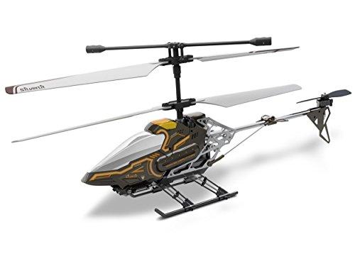 84602 Silverlit Sky Eye ferngesteuert 3-Kanal Helikopter 2.4GHz mit Gyro + Kamera für Video bzw. Bilder + Display in Fernbedienung für Echtzeitübertragung ca. 33cm, farblich sortiert - 1
