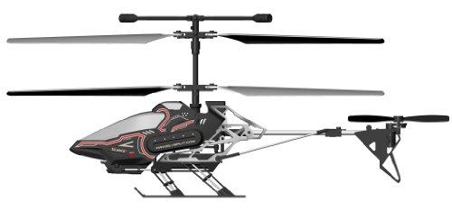 84602 Silverlit Sky Eye ferngesteuert 3-Kanal Helikopter 2.4GHz mit Gyro + Kamera für Video bzw. Bilder + Display in Fernbedienung für Echtzeitübertragung ca. 33cm, farblich sortiert - 3