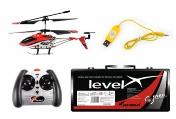 Amewi 25072 - Level X IR, Indoor Helikopter im Alukoffer (GYRO, USB, LiPo-Akku) - 2