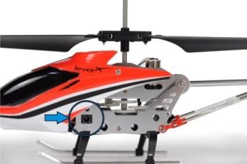 Amewi 25072 - Level X IR, Indoor Helikopter im Alukoffer (GYRO, USB, LiPo-Akku) - 6