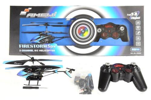 AMEWI 25093 - Firestorm Spy 3.5 Kanal Gyro Mini Hubschrauber mit Videokamera - 7