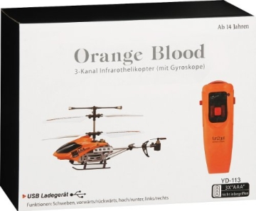 Fun2Get YD-113 - RC Mini Helikopter mit Motion Control Steuerung RTF mit Gyro-Technologie, orange - 1