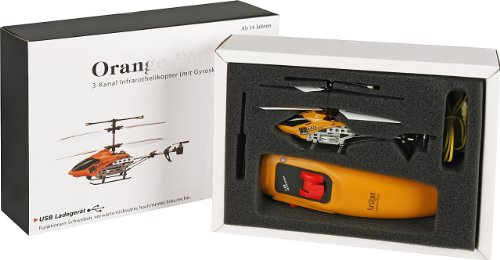 Fun2Get YD-113 - RC Mini Helikopter mit Motion Control Steuerung RTF mit Gyro-Technologie, orange - 5