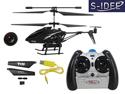 s-idee 01125 | L6029 2,4 GHz 3,5 Kanal Heli mit Kamera und Foto Spycam RC ferngesteuerter Hubschrauber/Helikopter/Heli mit GYROSCOPE-TECHNIK!!! für INNEN und AUSSEN brandneu mit eingebautem GYRO und KAMERA! FLUGFERTIG! - 1