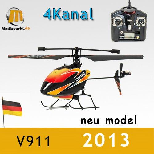 s-idee® 01140 | V911 4.5 Kanal 2,4 Ghz Heli Hubschrauber RC ferngesteuerter Hubschrauber/Helikopter/Heli mit LCD Display und GYROSCOPE-TECHNIK + 2,4Ghz TECHNOLOGIE!!! für INNEN und AUSSEN brandneu mit eingebautem GYRO und 2.4 GHz Steuerung! FLUGFERTIG! - 1