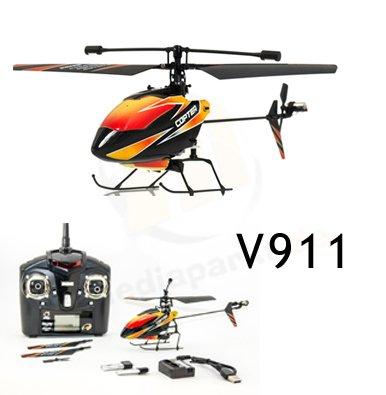 s-idee® 01140 | V911 4.5 Kanal 2,4 Ghz Heli Hubschrauber RC ferngesteuerter Hubschrauber/Helikopter/Heli mit LCD Display und GYROSCOPE-TECHNIK + 2,4Ghz TECHNOLOGIE!!! für INNEN und AUSSEN brandneu mit eingebautem GYRO und 2.4 GHz Steuerung! FLUGFERTIG! - 2
