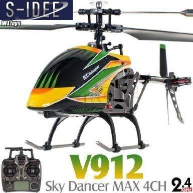s-idee® 01141 | V912 4.5 Kanal 2,4 Ghz Heli Hubschrauber RC ferngesteuerter Hubschrauber/Helikopter/Heli mit LCD Display und GYROSCOPE-TECHNIK + 2,4Ghz TECHNOLOGIE!!! für INNEN und AUSSEN brandneu mit eingebautem GYRO und 2.4 GHz Steuerung! FLUGFERTIG! - 1