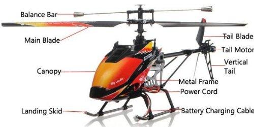 s-idee® 01142 | V913 4.5 Kanal 2,4 Ghz Heli Hubschrauber RC ferngesteuerter Hubschrauber/Helikopter/Heli mit LCD Display und GYROSCOPE-TECHNIK + 2,4Ghz TECHNOLOGIE!!! für INNEN und AUSSEN brandneu mit eingebautem GYRO und 2.4 GHz Steuerung! FLUGFERTIG! - 4