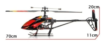 s-idee® 01142 | V913 4.5 Kanal 2,4 Ghz Heli Hubschrauber RC ferngesteuerter Hubschrauber/Helikopter/Heli mit LCD Display und GYROSCOPE-TECHNIK + 2,4Ghz TECHNOLOGIE!!! für INNEN und AUSSEN brandneu mit eingebautem GYRO und 2.4 GHz Steuerung! FLUGFERTIG! - 6