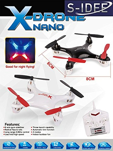 s-idee® 01162 | H107 Quadcopter 4.5 Kanal 2,4 Ghz Quadrocopter RC ferngesteuerter Hubschrauber/Helikopter/Heli mit GYROSCOPE-TECHNIK + 2,4Ghz TECHNOLOGIE!!! für INNEN und AUSSEN brandneu mit eingebautem GYRO und 2.4 GHz Steuerung! FLUGFERTIG! - 1