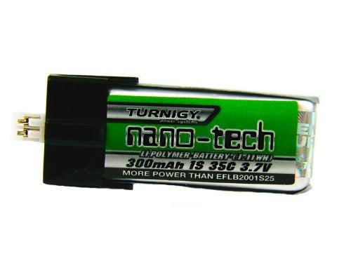 Turnigy nano-tech 300mAh Lipo Akku 1S 35C Blade mCPX / FBL100 EFLB2001S25 - 1