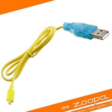 USB Ladekabel für AirAce Flash Back Heli zoopa 150 und manCopter, 5V - 1