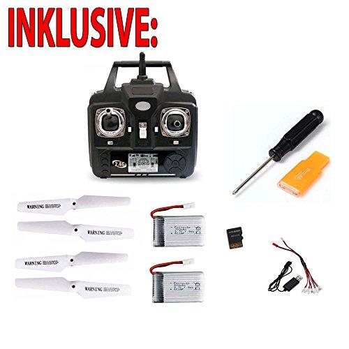 X5SC-1 Explorers 2 Pro HD, RC ferngesteuerte 4.5 Kanal Kamera-Quadcopter mit 2x Akku, Ersatzteile - 7